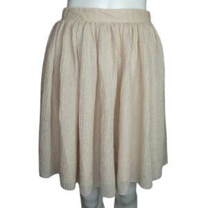 H&M Short Sparkly Flowy Pleated Skirt Size 6